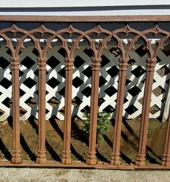 Victorian Cast Iron Ornate Gothic Crosses Fence Or Roof Toppers Ebay Wrought Iron Railing Exterior Iron Fence Cast Iron Gates
