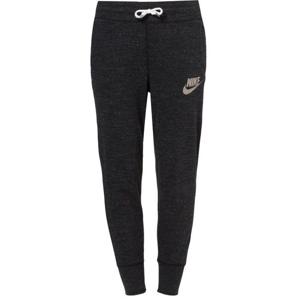 Nike Sportswear GYM VINTAGE Tracksuit bottoms/sail (€39) ❤ liked on Polyvore featuring activewear, activewear pants, bottoms, pants, nike, sweatpants, pajamas, black, nike sweatpants and vintage sportswear