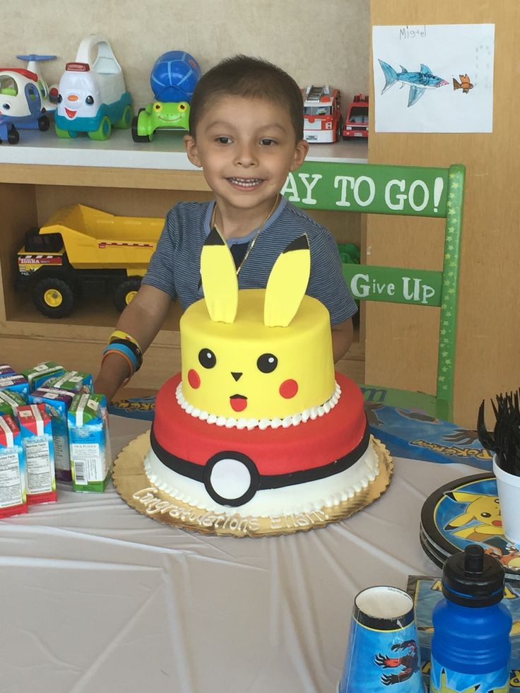 Elian loved his #Pokemon cake, created by Amanda Dill in Medford, NY! | #BakingADifference #IcingSmiles | All smiles in New York are possible thanks to our State Sponsors: Shauna and Tonya Samuels. | For information about our State Sponsorship plan, please follow this link: http://www.facebook.com/icingsmiles/app_406294156110267.