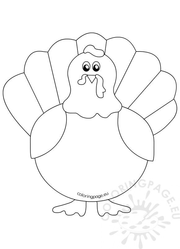 Printable Turkey Coloring Pages For Kids Thanksgiving Coloring