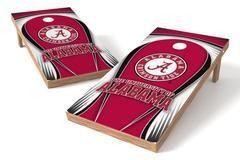 Alabama Crimson Tide Single Cornhole Board - Drop