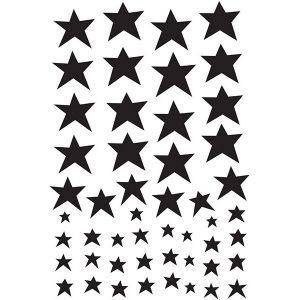Bilde av A Little Lovely Company Wall Stickers Black Stars
