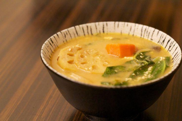 "Kenchinjiru, a basic shojin ryori dish. (links to recipe and 4 part article ""How To Eat Like A Buddhist Monk"")"