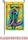 4 left - Cool Frog Garden Flag