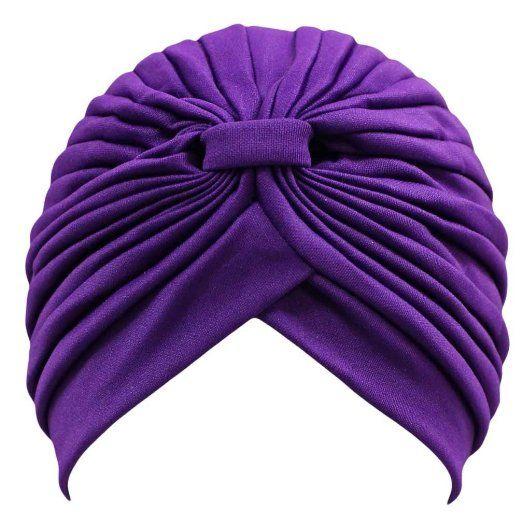 Amazon.com: Purple Classy Polyester Turban Hat Head Cover Sun Cap: Clothing