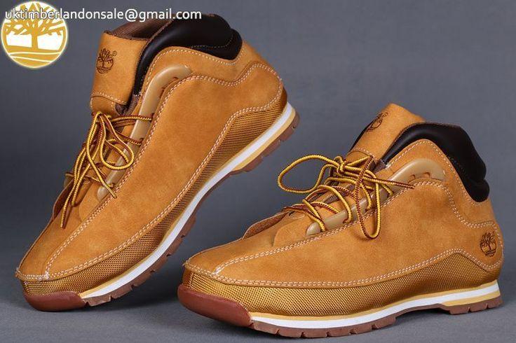 Custom Men's Wheat-Black Hiker Winter Timberland Euro Sprint $92.99