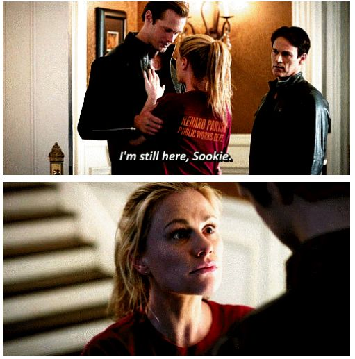 """Eric and Sookie - True Blood Season 7 quote. """"I'm still here, Sookie."""" I LOVE them together!"""