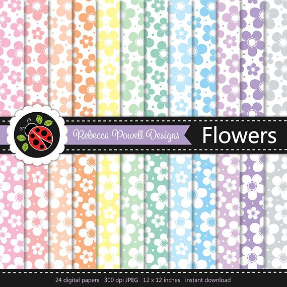 Charming flower/ floral digital paper set in pastel colours & white! Great for crafts, scrapbooking, commercial and digital use. Available from Etsy & Teachers Pay Teachers #etsy #etsyseller #etsyshop #teacherspayteachers #flowers # floral #supplies #commercialuse #pattern #digitalpaperset #printablepapers #papers #crafts #scrapbooking #springflowers #wedding #easter #digitaldownload #digitalbackgrounds #pastelcolours #pastels #white #rebeccapowelldesigns  #cute #print #pattern #surface…