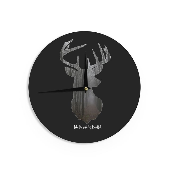 """Suzanne Carter """"The Road"""" Contemporary Nature Wall Clock"""