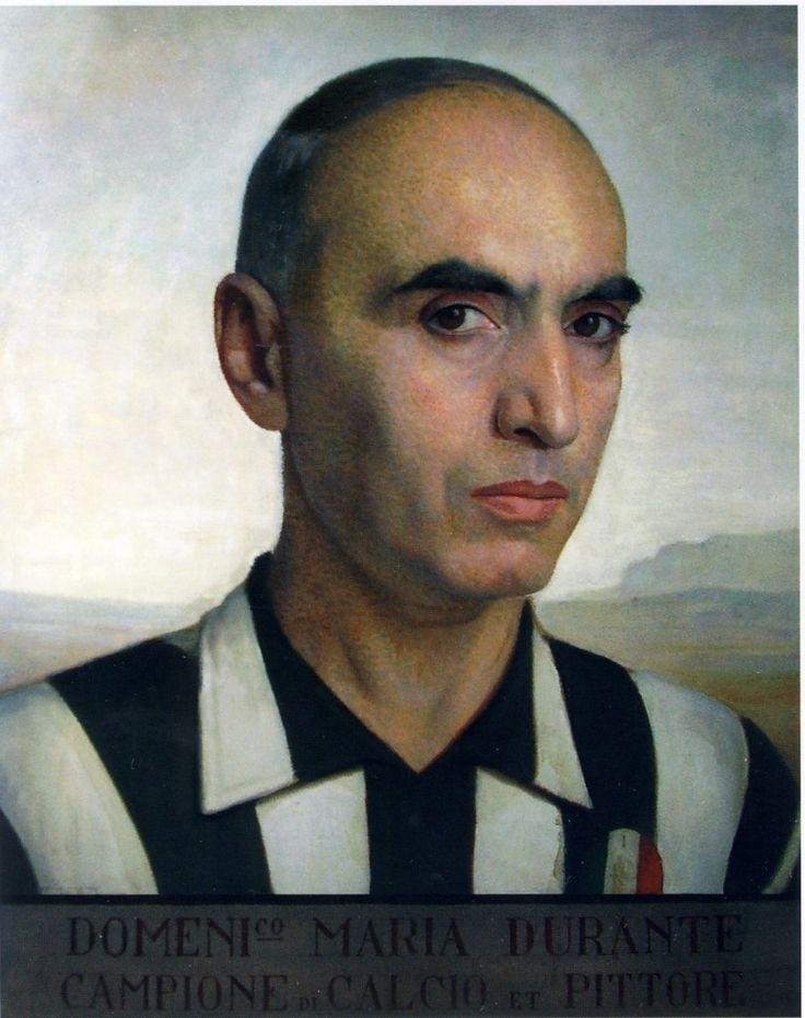 Domenico Maria Durante - Autoritratto in maglia della Juventus, 1926-30 circa. Torino, Palazzo Graneri della Roccia
