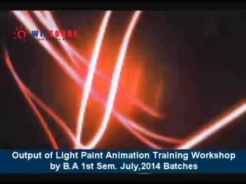 Students' Output - of Light Paint Animation Training Workshop - by B.A Section A & B - 1st Semester - July,2014 Batch
