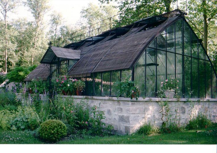 stone foundation greenhouse by serres d antan greenhouse pinterest v xthus hus och inredning. Black Bedroom Furniture Sets. Home Design Ideas