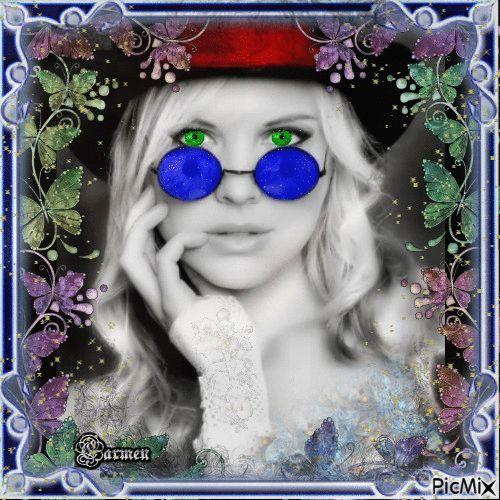 Ritratto donna con occhiali