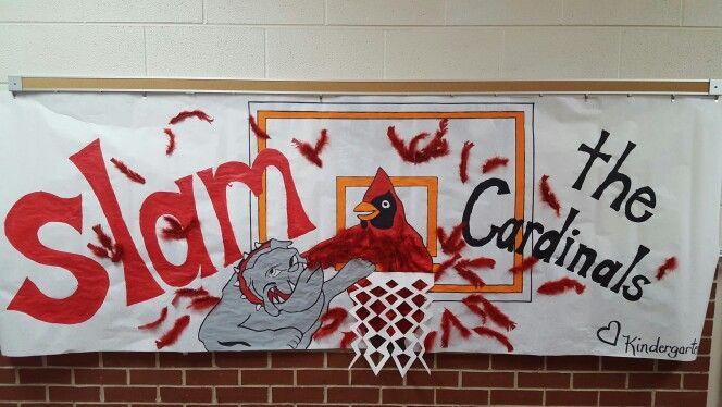 Basketball homecoming poster