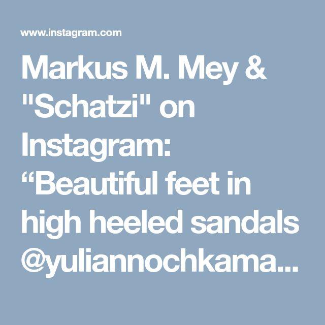 "Markus M. Mey & ""Schatzi"" on Instagram: ""Beautiful feet in high heeled sandals @yuliannochkamartunenko :-) #sandals #Zara #bossinhighheels #shoesinbed #highheelstagram #barfeet…"" • Instagram"
