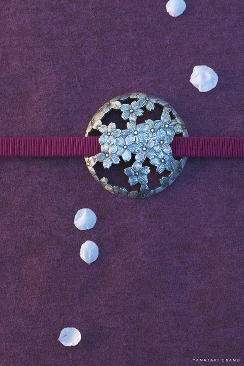 Obidome 帯留め - an ornament worn over an obi sash.