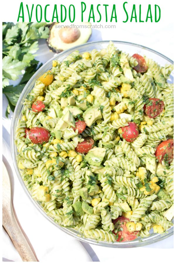 Avocado Pasta Salad Recipe Pasta Salad Avocado Pasta Pasta