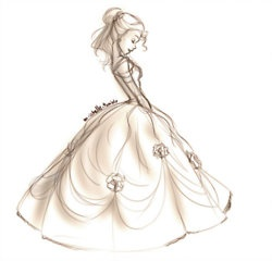 wedding illustration, I want to look like this on my wedding day