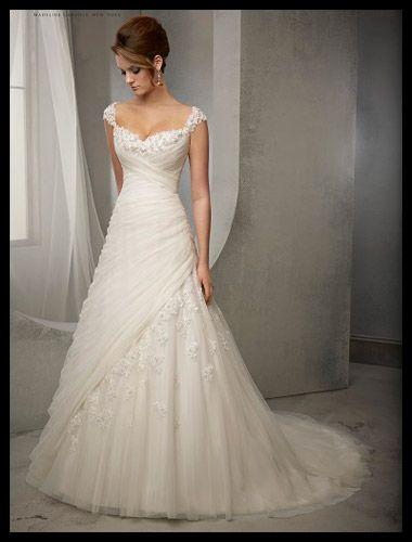 lace wedding dress princess a-line