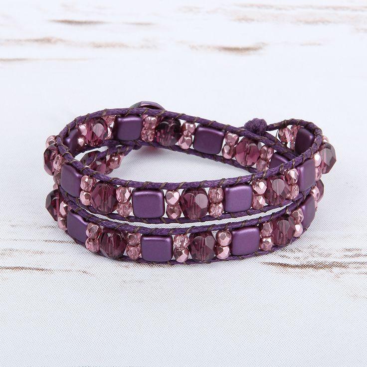 'Bordeaux' WrapIt Loom Bracelet