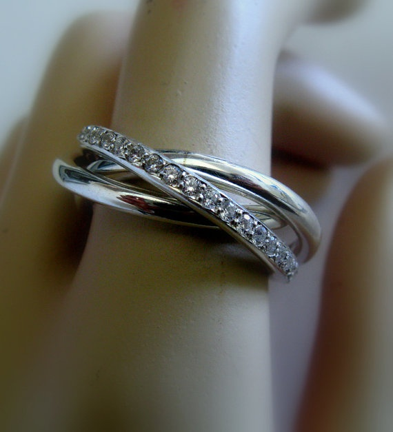 Cartier Infinity Love Ring  Russian Wedding Ring  by Amallias, $325.00