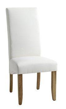 150 promocja Krzesło BAKKELY skóra ekologiczna krem. | JYSK