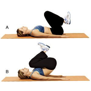 Itty Bitty Tummy Workout from thehautebunny....worth a try. Still loving the wall workout from Prevention though, too.