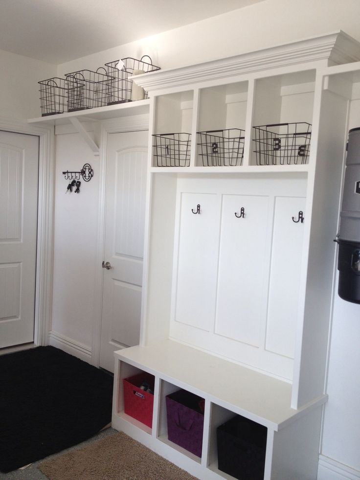 20 best images about mudroom or garage on pinterest for Garage mudroom