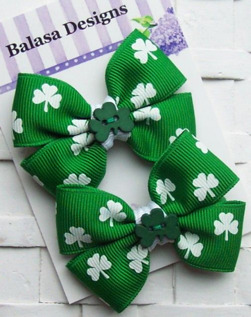 Super adorable bows for St. Patrick's Day