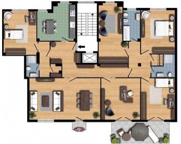 17 migliori idee su planimetrie di case su pinterest - Disegnare piantina casa ...