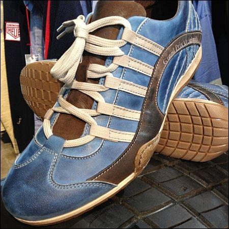 GPO Mens Vintage Leather Shoe Laguna Seca Blue