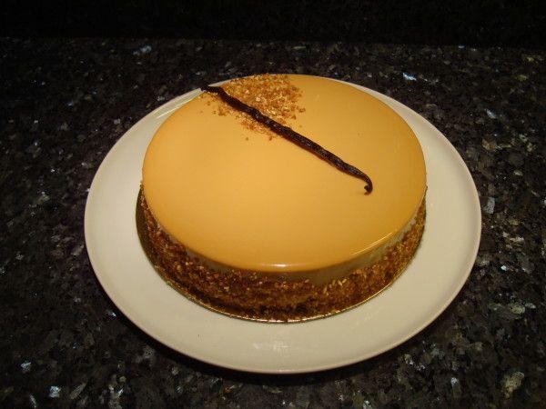 Pear caramel mousse cake recipe