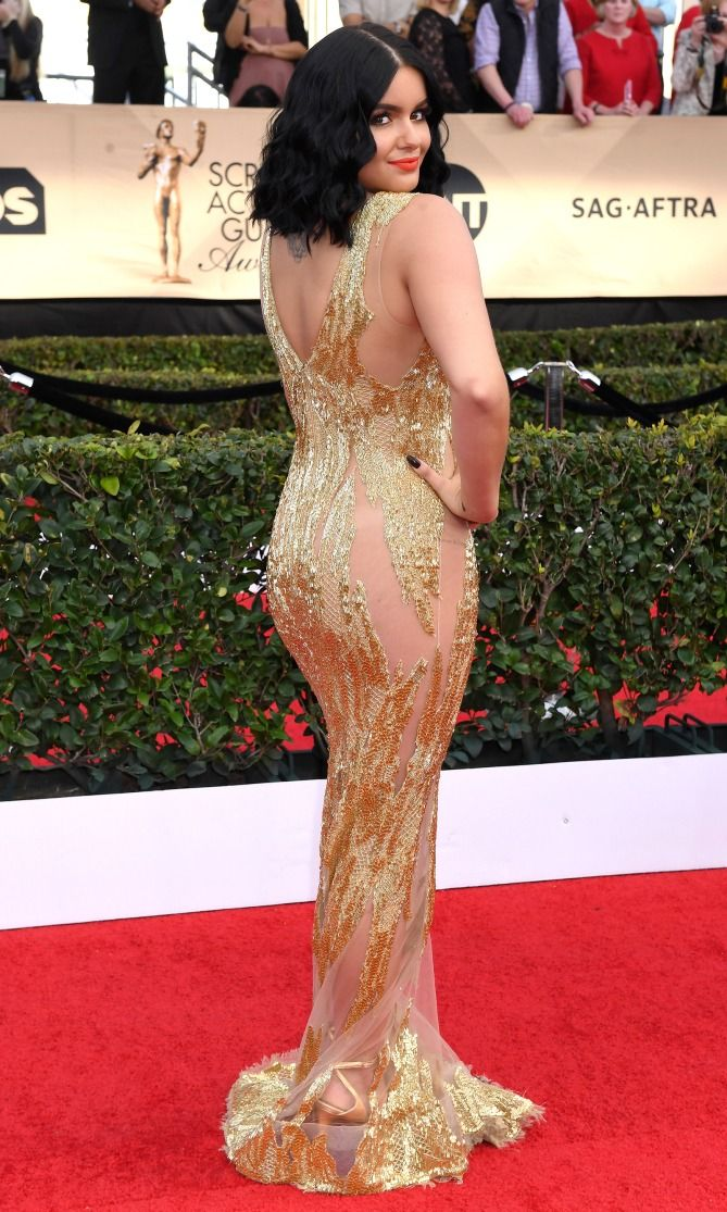 SAG Awards 2017: Best Red Carpet Dresses from Behind - Ariel Winter in Mikael D
