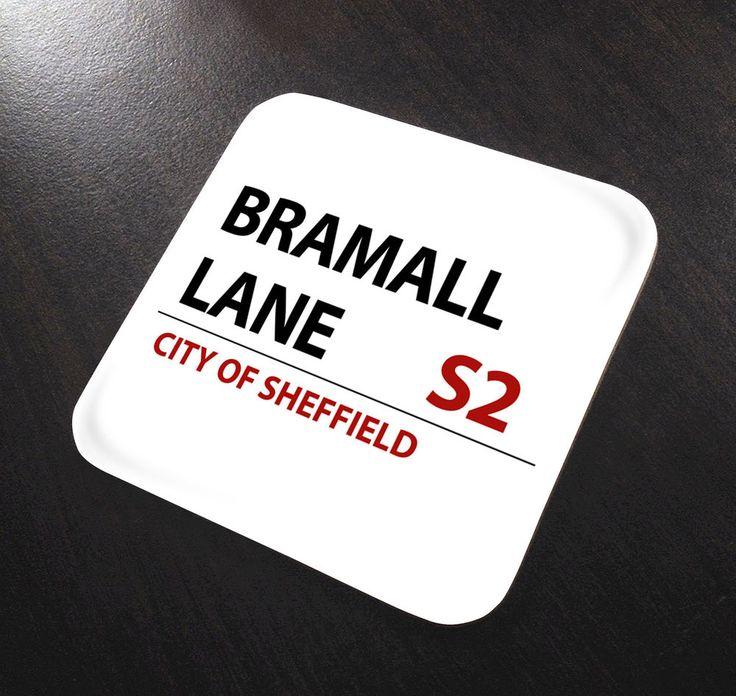 Bramall Lane Sheffield United Football Street sign Coaster place mat