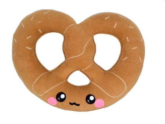 This listing is for 1 Pretzel plushie , just like the ones in the pictures. Measurements : Height - 11 inch / 28 cm Width - 14inch / 37 cm I do ♥ custom orders. Customization are accepted and welcome so please feel free to contact me for other colours and designs. Its made entirely out of soft anti-pill fleece and filled with fire retardant toy stuffing. Each item is handmade therefore there might be minor differences  ♥ SHIPPING & PAYMENT ♥  All orders will be shipped within 5-6 weeks…