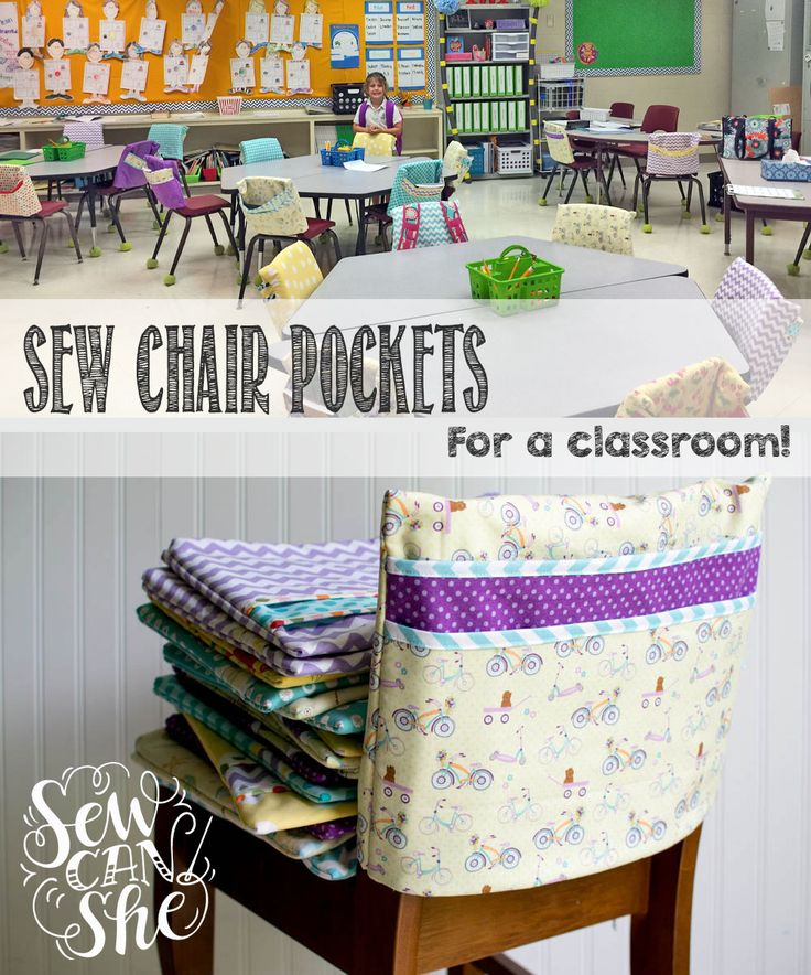 So if your kid's teacher ever asks you about making chair pockets for the class, say yes - I'll show you how!