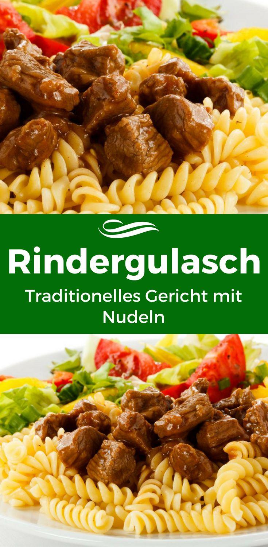 Das traditionelle Gulasch mit Rindfleisch ist bei vielen beliebt! Jede einzelne Zutat kommt maximal zur Geltung und umschmeichelt das leckere Rindergulasch.