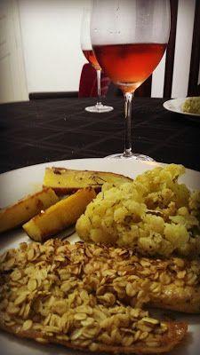 Crispirinha: Filé de tilápia com mostarda dijon e crosta de ave...