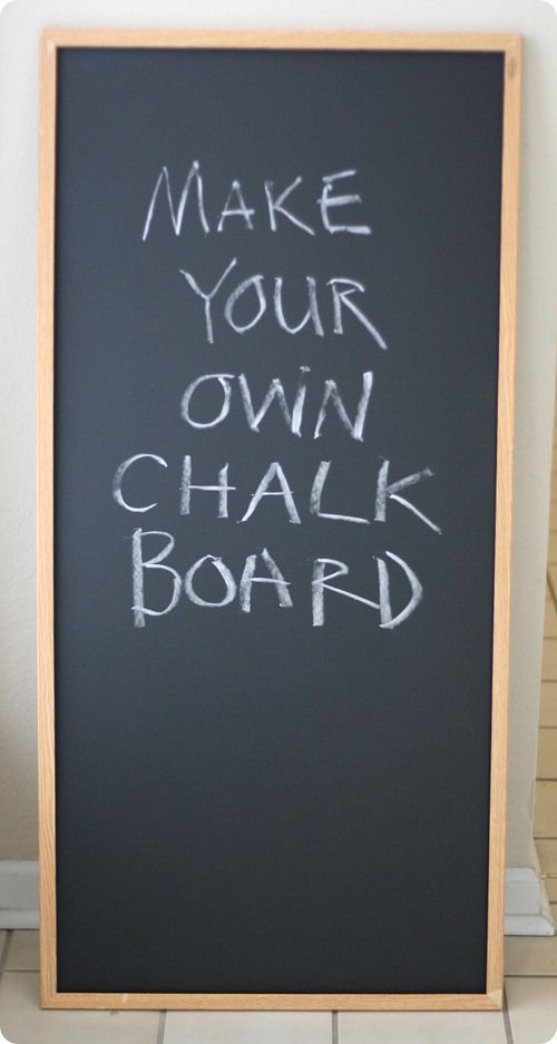 Decided on a chalkboard program for my wedding only to find out how much large chalkboards cost (!!!). Found this. Guess I'm going to be getting crafty!! :)