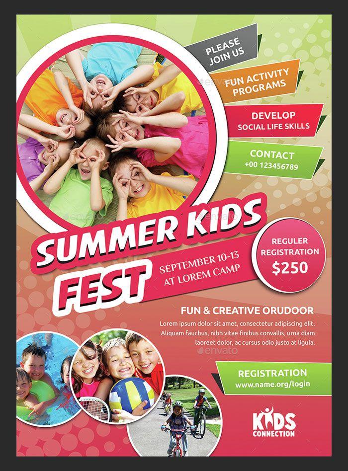 30 Summer Camp Flyer Psd Templates Free Premium Summer Camps