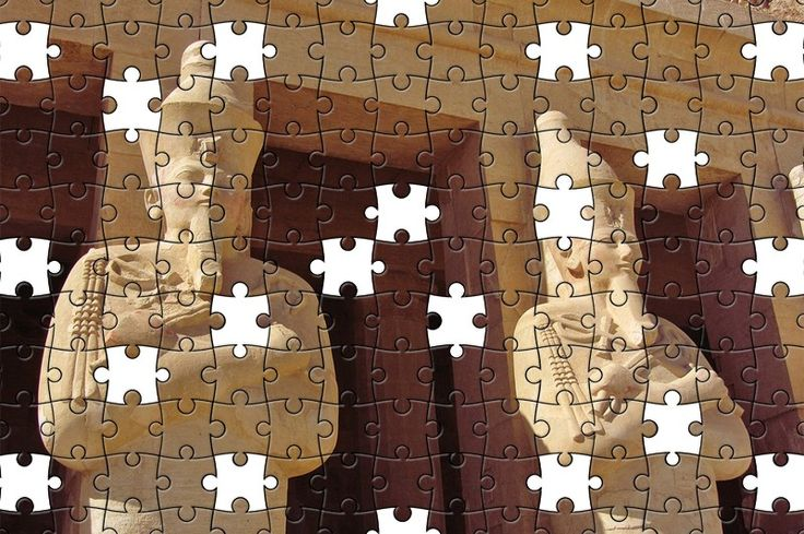 Free Jigsaw Puzzle Online - Osiris Statues