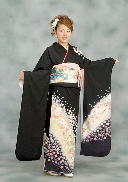 un costume traditionnel japonais yukata coiffures japonnaises pinterest kimonos ps et. Black Bedroom Furniture Sets. Home Design Ideas