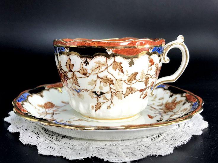 Antique Severn Teacup & Saucer, Made in England 1000K