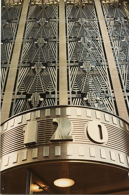 art deco detail 120 Wall Street building entrance New York City - USA