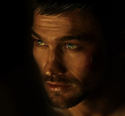 Spartacus - Andy Whitfield - Death comes to us All Art Print