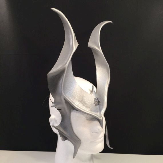 Odin Horns Leather Mask