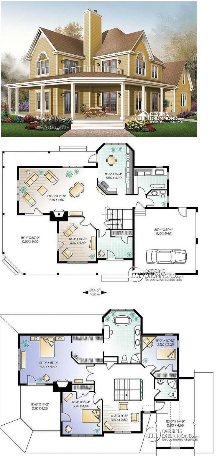 Plan de maison unifamiliale Meridian 3 No. 6804A | Sims ...