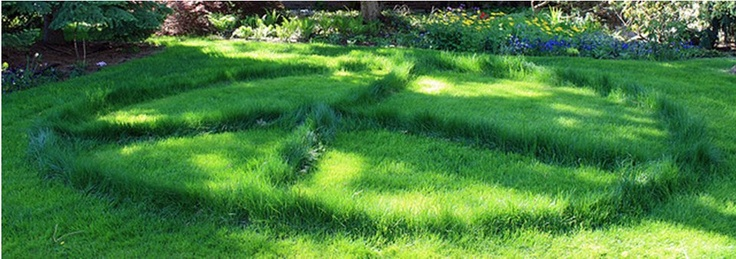 I love this. Stole this pic from Hippie Peace Freaks page on Facebook.  It's not a traditional labyrinth, but it could be walked like one.