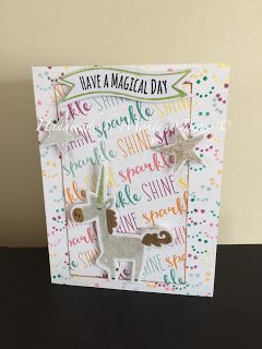 Have a Magical Day Sparkle card using Little Dreamer from CTMH.