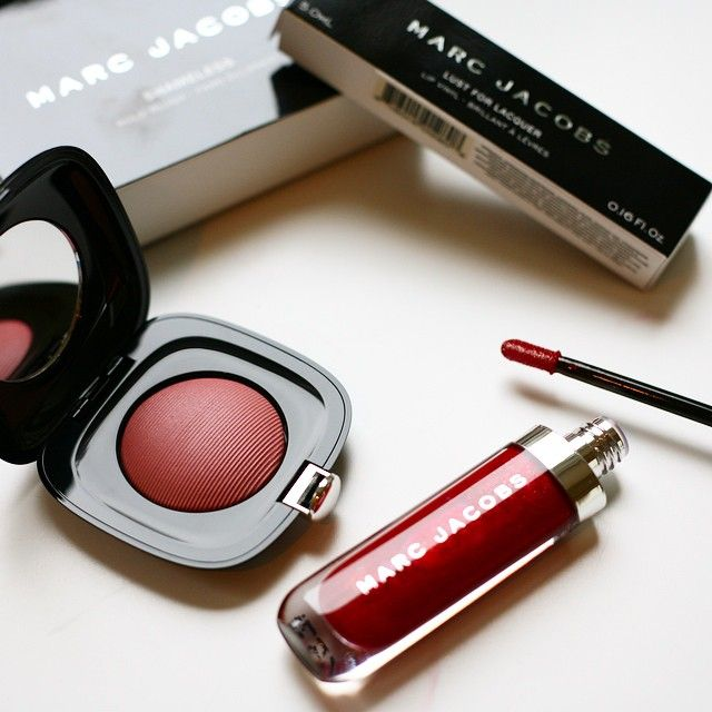Blushing Beauty | Marc Jacobs Beauty Shameless blush and Lust for Lacquer lipgloss / Photo by Victoria Cho